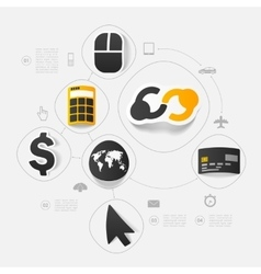 Business sticker infographic vector