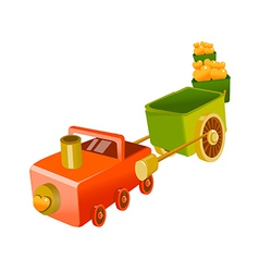 Icon toy train vector
