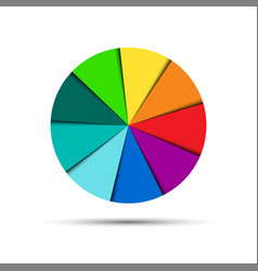 Color round palette isolated on white background vector