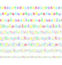 seamless easter border vector image