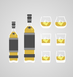 Whisky in glass vector