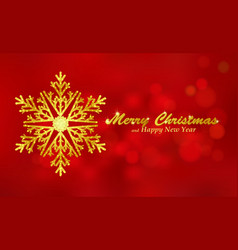 Merry christmas red background with snowflake vector