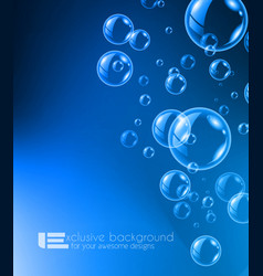 Shiny quality bubble liquid background for modern vector