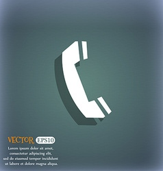 Phone sign icon support symbol call center on the vector