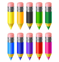Set colored pencils vector