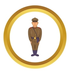 A man in army uniform icon vector