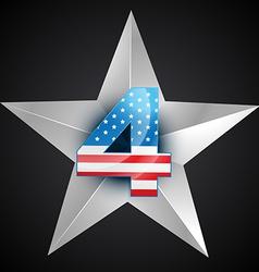 American flag badge vector