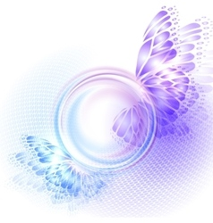 Background with soft transparent circle vector image
