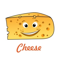Cartoon cheese vector