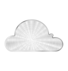cloud metal icon vector image vector image