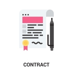 Contract icon concept vector