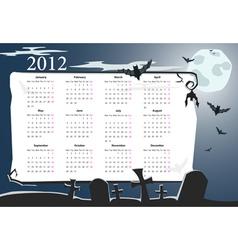 european halloween calendar 2012 vector image vector image