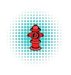 Fire hydrant icon comics style vector