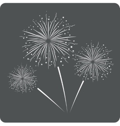 Fireworks sign icon vector image vector image