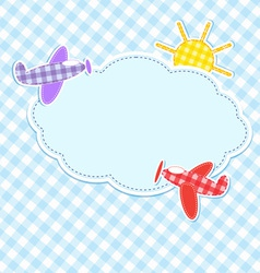 Frame with colorful aeroplanes vector image vector image