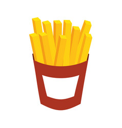 french fries fast food potato fresh vector image