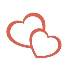 Heart love silhouette icon vector