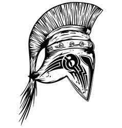 Legionary helmet vector