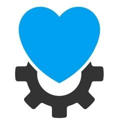 Mechanical Heart Icon vector image