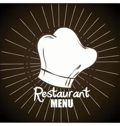 menu restaurant cover icon vector image vector image