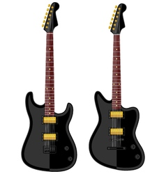 Modern electric guitars vector image vector image