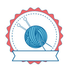 Needle and wool vector