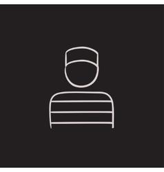 Prisoner sketch icon vector image