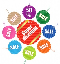 sale tag stickers vector image vector image