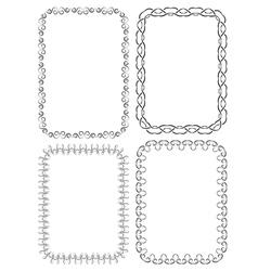 set of elegant frames on a white background vector image vector image
