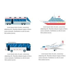Transport road and air infographic vector