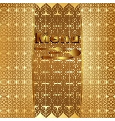 Vintage menu cover gold 4 vector image