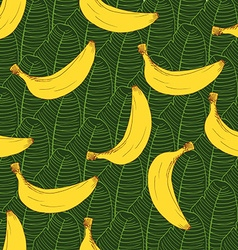 Banana hand drawn sketch seamless pattern vector