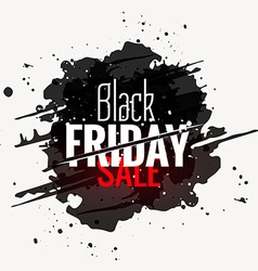 Black friday sale grunge style label design vector