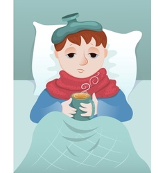 Sick boy vector image