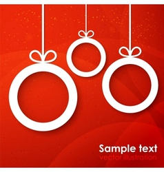 Christmas applique background vector
