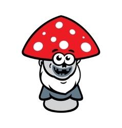 Evil mushroom cartoon vector