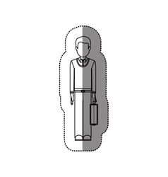 Isolated avatar man with suitcase design vector