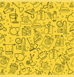 House cleaning seamless pattern vector