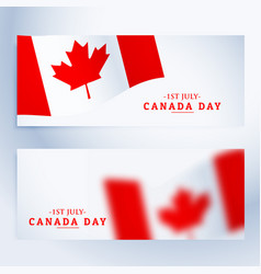 Banners set of canada day vector