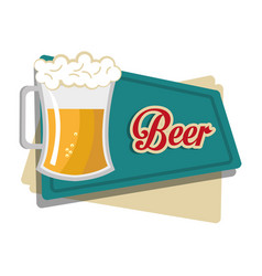 beer beverage drink isolated vector image
