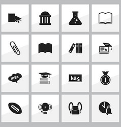 Set of 16 editable university icons includes vector
