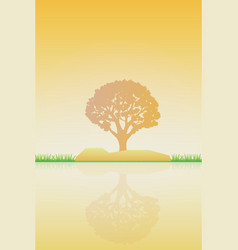 nature at noon outdoor design concept beautiful vector image