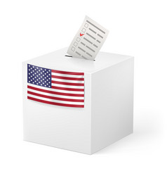 Election in united states of america ballot box vector