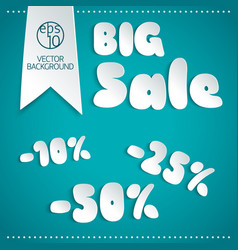 Big sale background in paper style vector