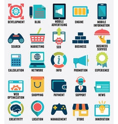Set of media service flat icons - part 2 - icons vector