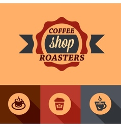 flat coffee shop design elements vector image