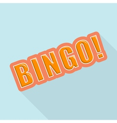 Cartoon bingo design element for the site vector