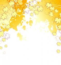 autumn splash back vector image
