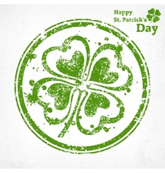 Four leaf clover grunge in vector
