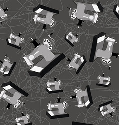 Sewing machine seamless pattern vector